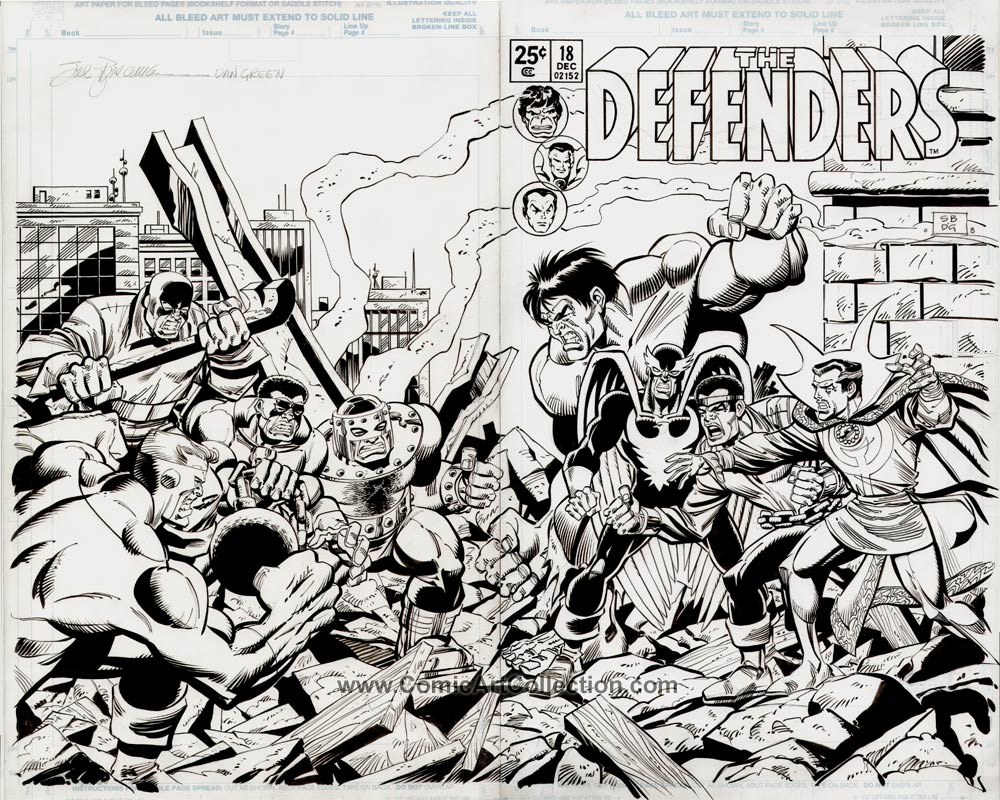 Book Cover Art Commission : Defenders cover commission