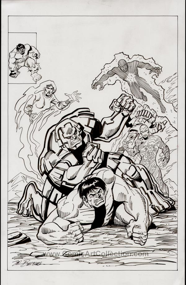 Book Cover Art Commission : Incredible hulk cover commission